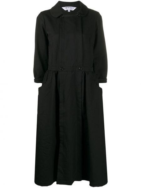 Sukienka z kołnierzem czarny Comme Des Garcons Comme Des Garcons