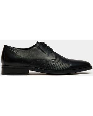 Кожаные деловые черные туфли на каблуке Ralf Ringer