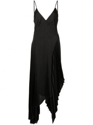 Czarna sukienka asymetryczna z dekoltem w serek Monse