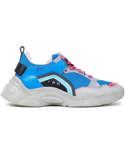 Кожаные кроссовки - синие Iro