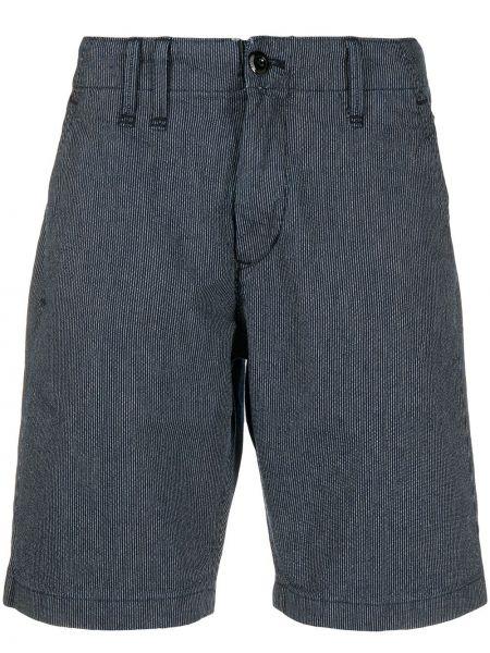 Хлопковые прямые белые короткие шорты с карманами G-star Raw