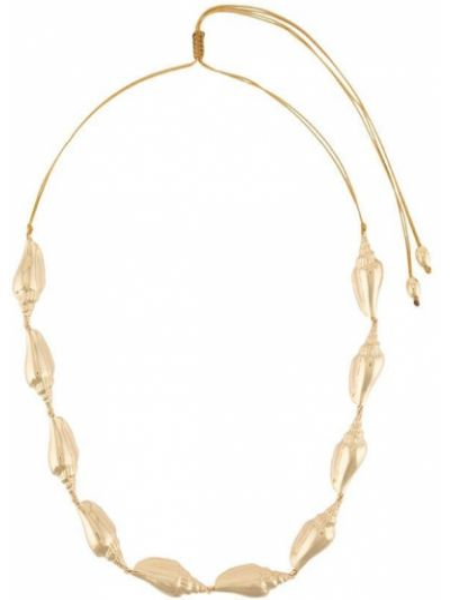 Золотистое желтое ожерелье металлическое Tohum