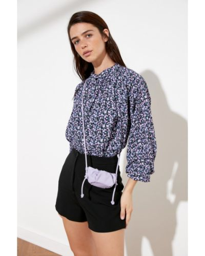 Fioletowa koszula Trendyol