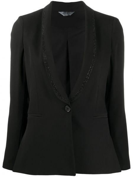 Пиджак с накладными карманами черный Liu Jo