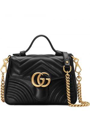 Черная маленькая сумка из микрофибры Gucci