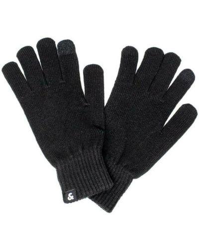 Czarne rękawiczki Jack & Jones