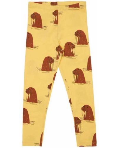 Хлопковые леггинсы - желтые Mini Rodini