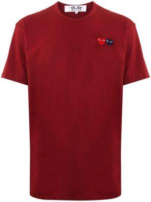 Koszula krótkie z krótkim rękawem prosto burgundia Comme Des Garcons Play