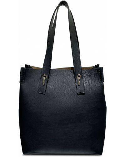 Czarna torebka zamszowa Bonastre
