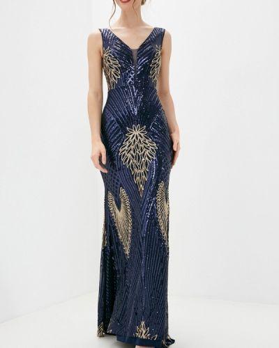 Синее вечернее платье Soky & Soka