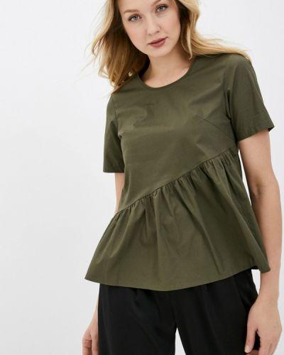 Зеленая блузка с оборками снежная королева