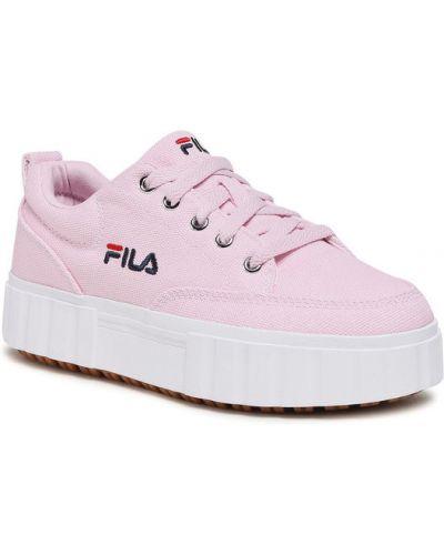Różowe sneakersy Fila