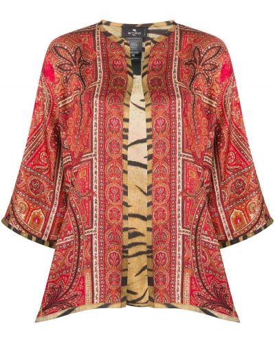 Z rękawami jedwab kimono Etro