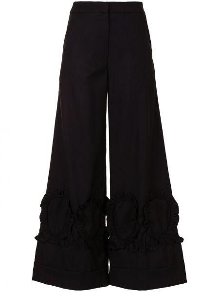 Шерстяные черные брюки свободного кроя Shrimps