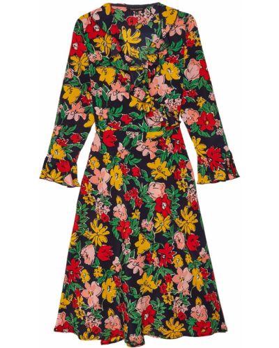Платье миди с цветочным принтом с запахом с оборками Tara Jarmon