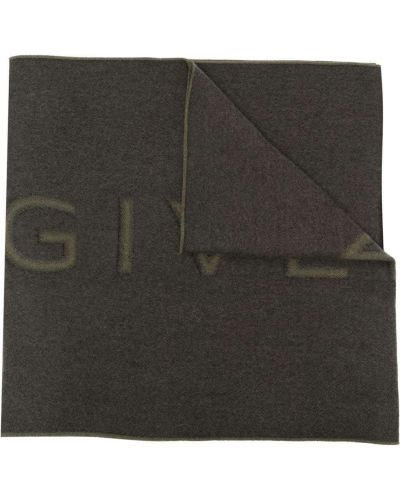 Szalik wełniany - zielony Givenchy