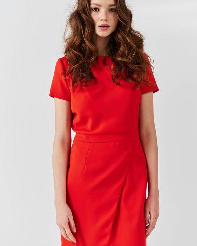 Платье мини на молнии с разрезом Simple