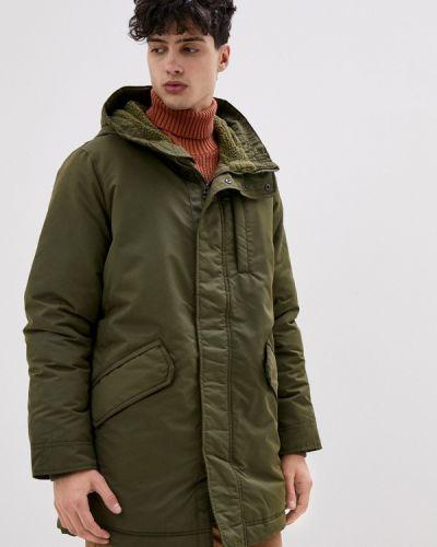 Зеленая утепленная короткая куртка Gap