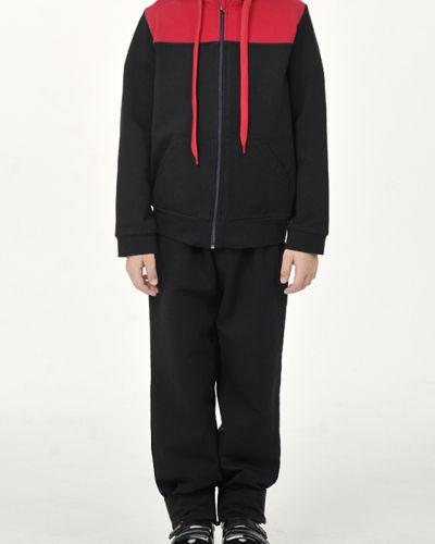 Спортивный костюм с капюшоном черный Lacywear
