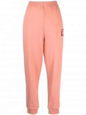 Спортивные брюки из полиэстера - розовые Mcq
