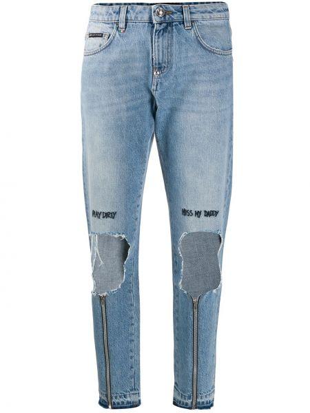 Прямые джинсы - синие Philipp Plein