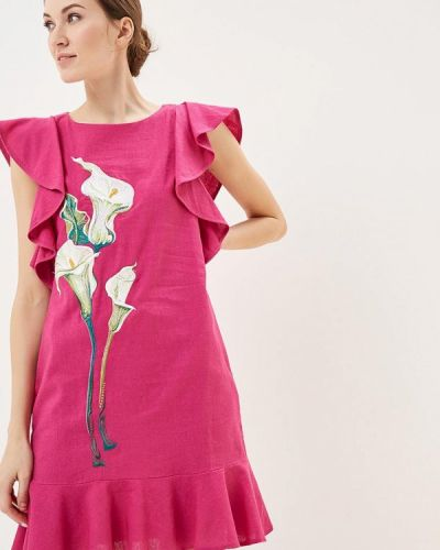 Розовое платье Indiano Natural
