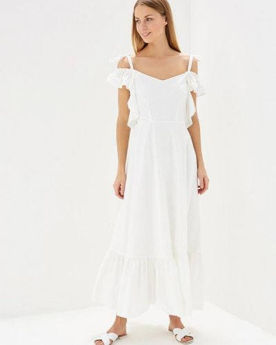 Белое платье Brigitte Bardot