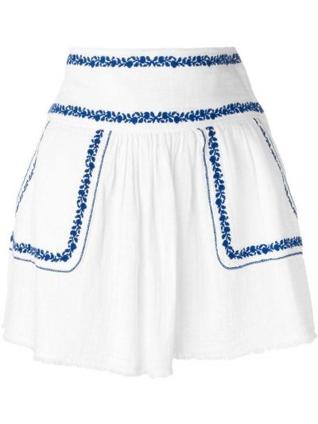 Niebieski z wysokim stanem spódnica mini z kieszeniami Isabel Marant Etoile