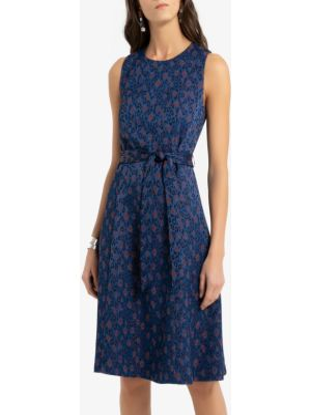 Платье миди на пуговицах с поясом La Redoute