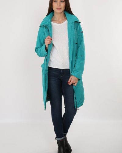 Голубое пальто свободное Finn Flare