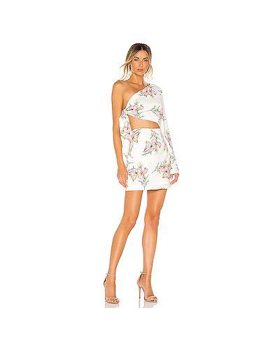 Платье с поясом на одно плечо через плечо Superdown