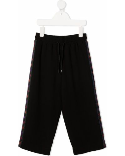 Czarne spodnie z wiskozy Kenzo Kids