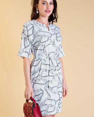 Платье с поясом платье-сарафан прямое Lady Taiga