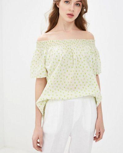Блузка с открытыми плечами весенний бежевый United Colors Of Benetton