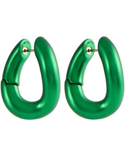 Серьги металлические - зеленые Balenciaga