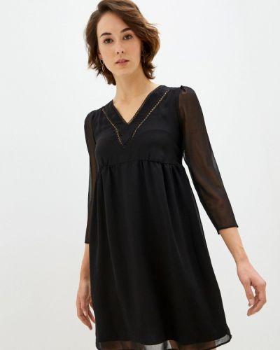 Прямое черное платье Naf Naf