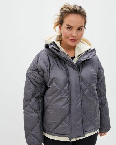 Серебряная теплая куртка Adidas By Stella Mccartney