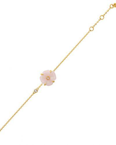 Золотой браслет позолоченный с камнями Nina Ricci
