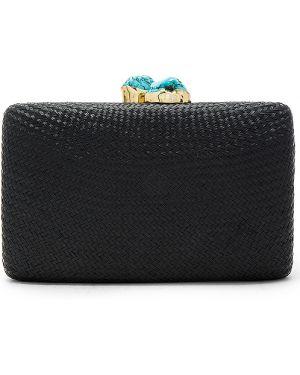 Czarna torebka na łańcuszku bawełniana Kayu
