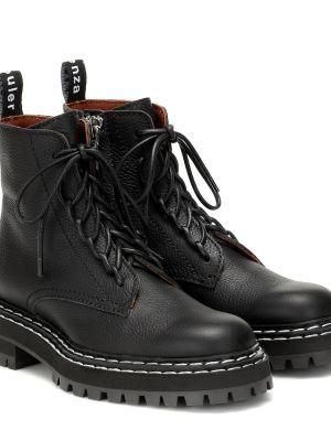 Сапоги черные на шнуровке Proenza Schouler