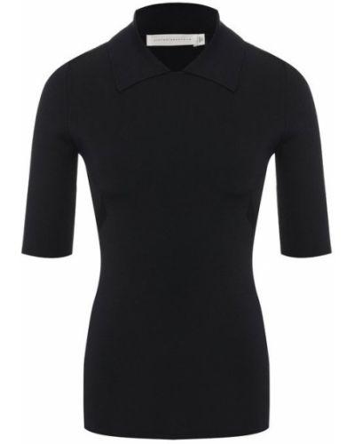 Поло шелковое черное Victoria Beckham