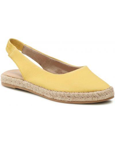 Żółte sandały espadryle Marco Tozzi