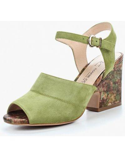 Босоножки на каблуке велюровые Marie Collet