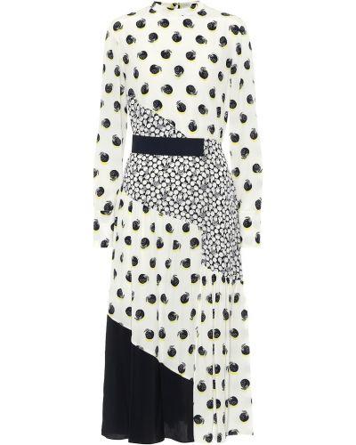 Шелковое белое платье миди Stella Mccartney