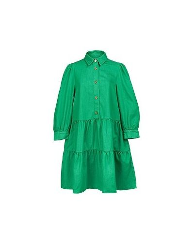 Хлопковое зеленое платье-рубашка Essentiel