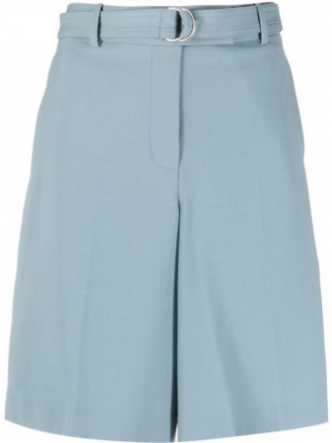 Синие хлопковые шорты с карманами Helmut Lang
