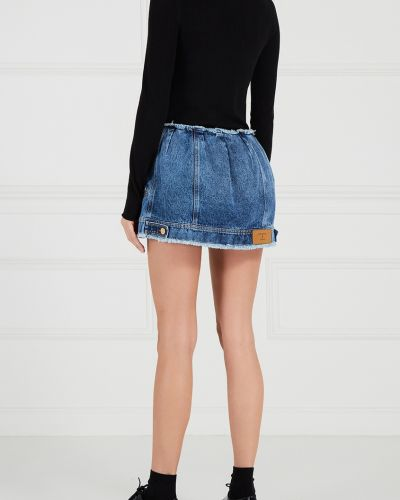 Юбка мини джинсовая на пуговицах Natasha Zinko