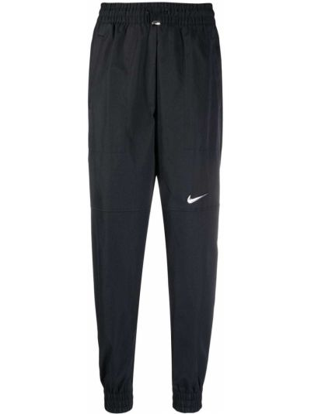 Черные брюки с карманами с манжетами Nike