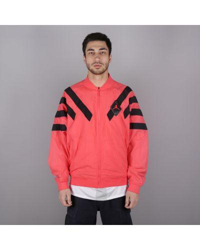 Розовая куртка нейлоновая Jordan