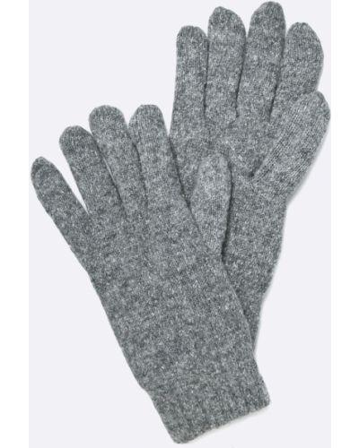 Rękawiczki wełniany szary Gant
